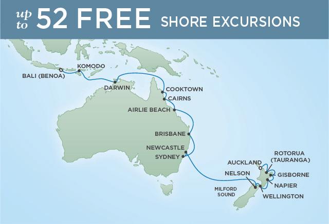 Regent/Radisson Luxury Cruises KOALAS & KOMODO DRAGONS | 22 NIGHTS | DEPARTS JAN 21, 2020 |  Voyager