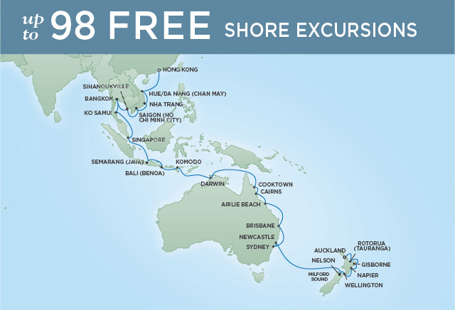 REGENT CRUISES EXOTIC ADVENTURES | 40 NIGHTS | DEPARTS JAN 21, 2020 | Seven Seas Voyager