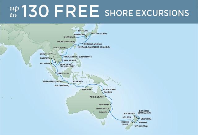 Regent/Radisson Luxury Cruises ANCIENT LANDSCAPES | 52 NIGHTS | DEPARTS JAN 21, 2020 |  Voyager