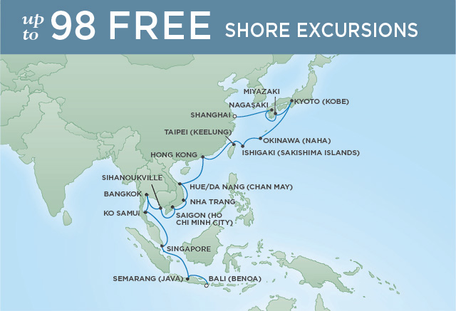 REGENT CRUISES TEMPLES & TOWERS | 30 NIGHTS | DEPARTS FEB 12, 2020 | Seven Seas Voyager