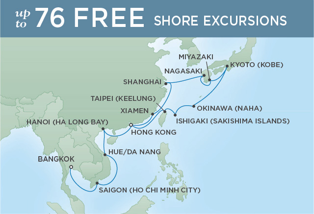 EASTERN GEMS | 26 NIGHTS | DEPARTS MAR 01, 2020 | Seven Seas Voyager