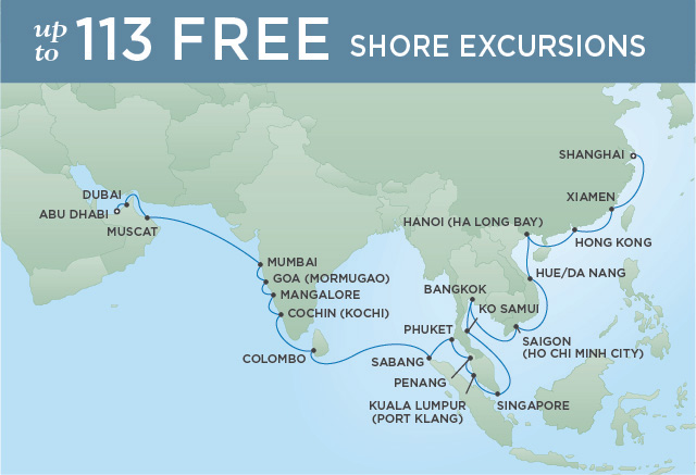 Regent/Radisson Luxury Cruises IDYLLIC LANDS | 34 NIGHTS | DEPARTS MAR 13, 2020 |  Voyager