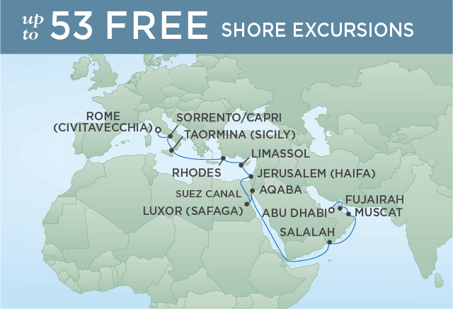 Regent/Radisson Luxury Cruises HISTORY OF THE WORLD | 20 NIGHTS | DEPARTS APR 16, 2020 |  Voyager