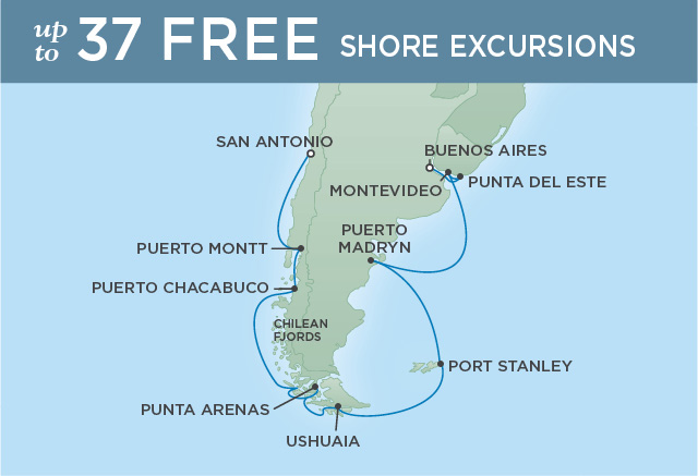 ISLANDS & FJORDS OF SOUTH AMERICA | 16 NIGHTS | DEPARTS FEB 01, 2019 | Seven Seas Explorer