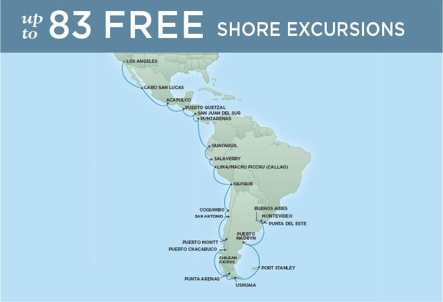 Regent/Radisson Luxury Cruises RADIANT DISCOVERIES | 36 NIGHTS | DEPARTS FEB 01, 2019 |  Explorer