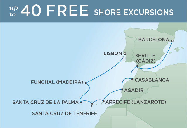 Regent/Radisson Luxury Cruises CAPTIVATING CANARY ISLANDS | 10 NIGHTS | DEPARTS APR 08, 2019 |  Explorer