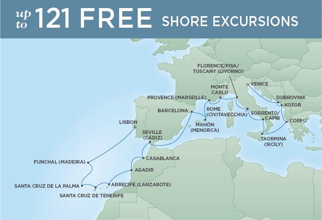 Regent/Radisson Luxury Cruises A TASTE OF THE RIVIERA | 22 NIGHTS | DEPARTS APR 08, 2019 |  Explorer