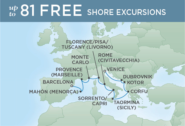 REGENT CRUISES BEST OF THE MED | 12 NIGHTS | DEPARTS APR 18, 2019 | Seven Seas Explorer
