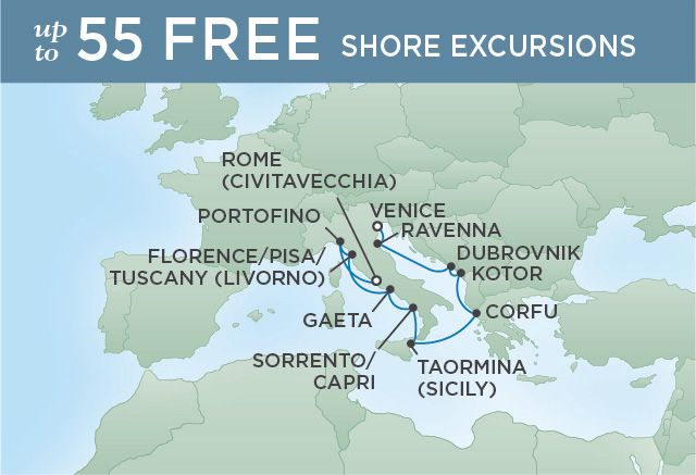 Regent/Radisson Luxury Cruises FROM ITALY WITH LOVE | 10 NIGHTS | DEPARTS APR 30, 2019 |  Explorer