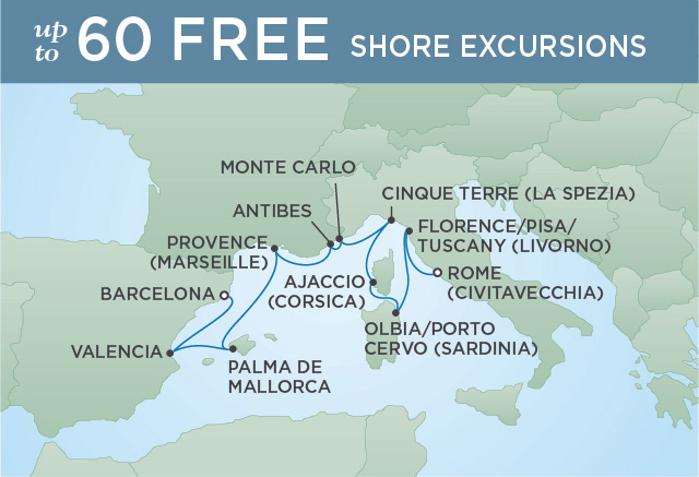PISA, PROVENCE & PALMA | 10 NIGHTS | DEPARTS MAY 10, 2019 | Seven Seas Explorer