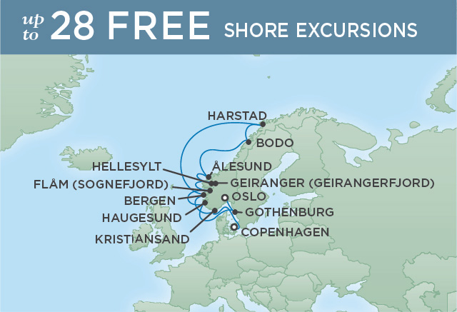 REGENT CRUISES NORWEGIAN PEAKS & FJORDS | 12 NIGHTS | DEPARTS AUG 08, 2019 | Seven Seas Explorer