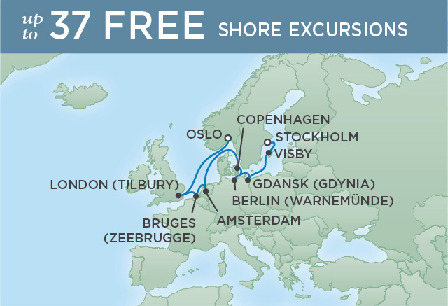 REGENT CRUISES SCANDINAVIAN SUMMER | 10 NIGHTS | DEPARTS AUG 20, 2019 | Seven Seas Explorer