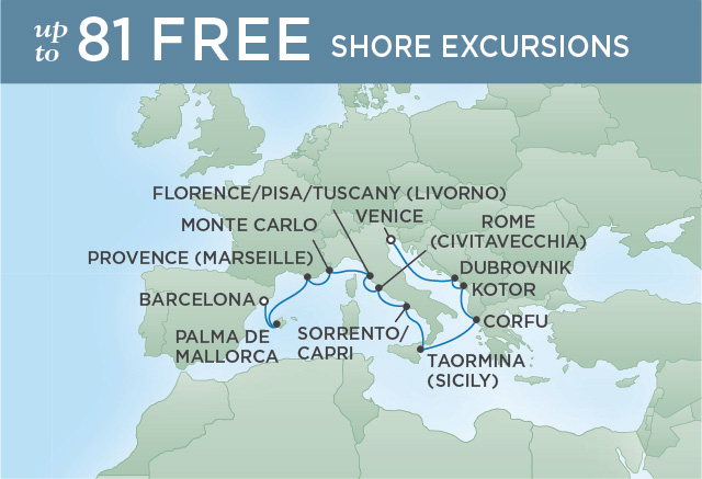REGENT CRUISES TASTE OF TUSCANY | 12 NIGHTS | DEPARTS OCT 07, 2019 | Seven Seas Explorer