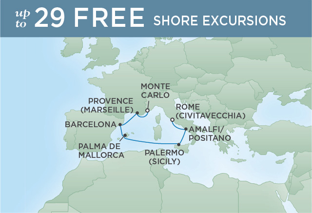 REGENT CRUISES FALL FOR THE MEDITERRANEAN | 7 NIGHTS | DEPARTS OCT 29, 2019 | Seven Seas Explorer