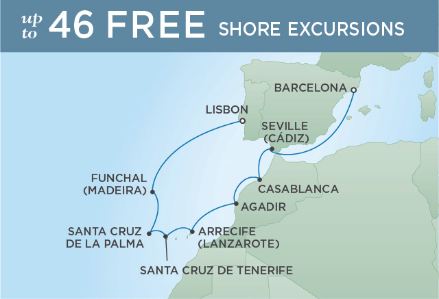 REGENT CRUISES IBERIAN DISCOVERY | 11 NIGHTS | DEPARTS NOV 12, 2019 | Seven Seas Explorer