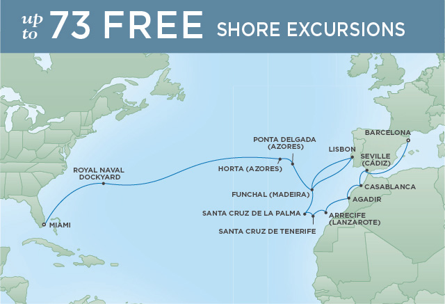 REGENT CRUISES ATLANTIC PASSAGE | 25 NIGHTS | DEPARTS NOV 12, 2019 | Seven Seas Explorer