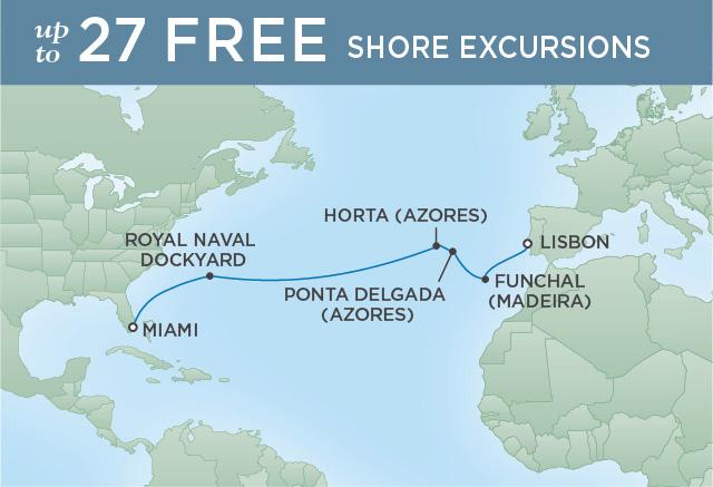 Regent/Radisson Luxury Cruises GRAND ATLANTIC & AZORES | 14 NIGHTS | DEPARTS NOV 23, 2019 |  Explorer