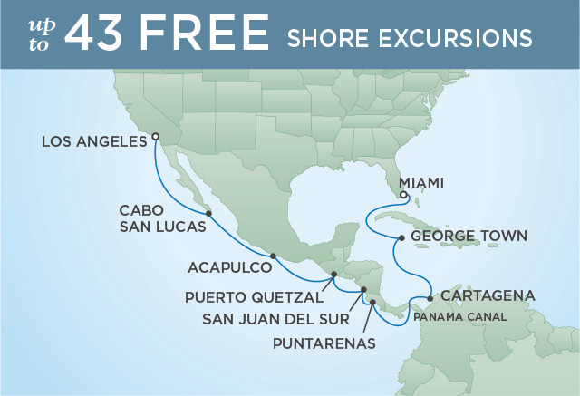 Regent/Radisson Luxury Cruises CANAL, COSTA RICA & CALIFORNIA | 16 NIGHTS | DEPARTS MAR 02, 2020 |  Explorer