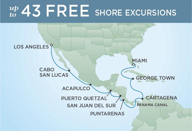 REGENT CRUISES CANAL, COSTA RICA & CALIFORNIA | 16 NIGHTS | DEPARTS MAR 02, 2020 | Seven Seas Explorer