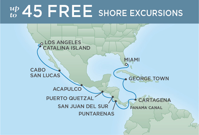 REGENT CRUISES PACIFIC PANAMA ADVENTURE | 16 NIGHTS | DEPARTS MAR 18, 2020 | Seven Seas Explorer