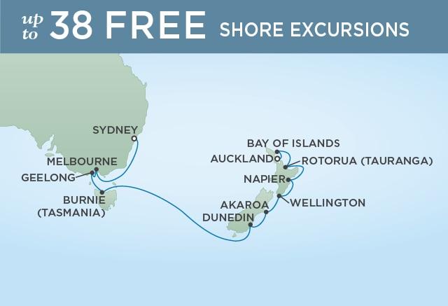 7 Seas Luxury Cruises GRANDEUR OF NEW ZEALAND - January 21 February 4 2021