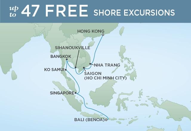 7 Seas Luxury Cruises RADIANCE OF THAILAND - February 22 March 9 2021