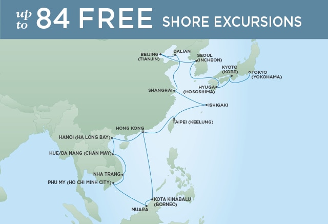 7 Seas Luxury Cruises THE BEST OF ASIA - March 9 April 6 2021