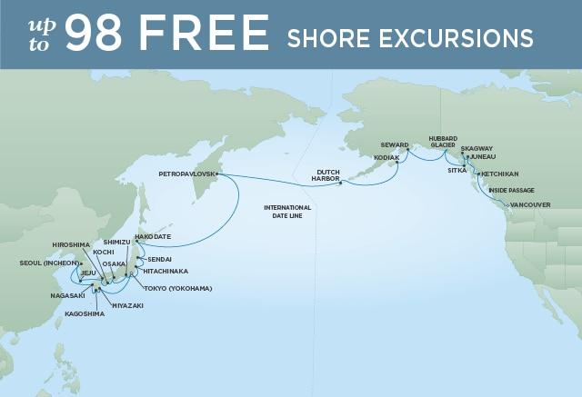 7 Seas Luxury Cruises MOUNT FUJI TO HUBBARD GLACIER - April 6 May 9 2021