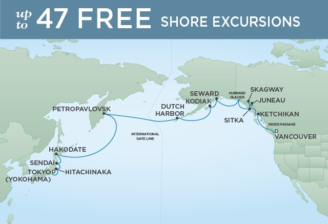 7 Seas Luxury Cruises NORTH PACIFIC SOJOURN - April 20 May 9 2021