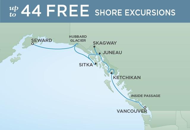 7 Seas Luxury Cruises INSIDE PASSAGE EXPLORATION - May 19-26 2021