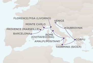 Single Balconies/Suites Map CRUISES - Balconies/Suites Regent Cruises RSSC Mariner 2018