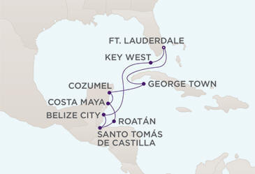 DEALS Map DEALS Regent Cruises RSSC Mariner 2019