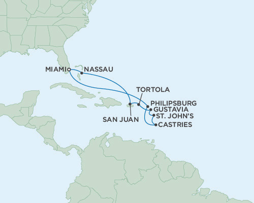 Singles Cruise - Balconies-Suites Regent Mariner 2019 November 4-15 2019 - 11 Days Miami, FL to Miami, FL
