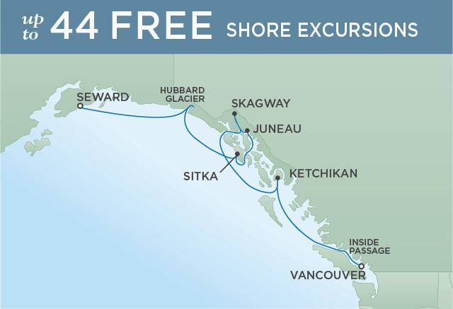 Regent/Radisson Luxury Cruises HUBBARD GLACIER EXPLORATION | 7 NIGHTS | DEPARTS JUN 19, 2021 |  Mariner