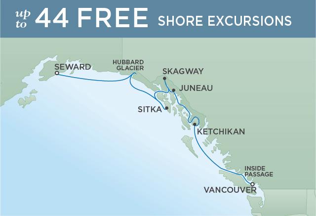 Regent/Radisson Luxury Cruises SITKA, SKAGWAY & SUMMER FUN | 7 NIGHTS | DEPARTS JUL 24, 2019 |  Mariner