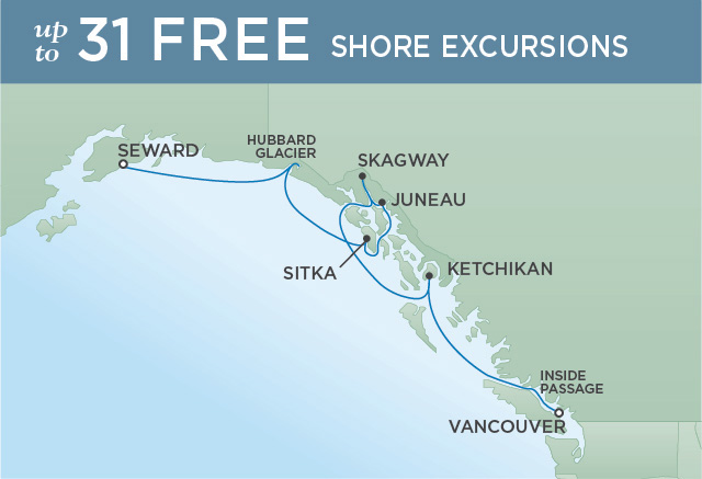 INSIDE PASSAGE IMMERSION | 7 NIGHTS | DEPARTS JUL 31, 2019 | Seven Seas Mariner