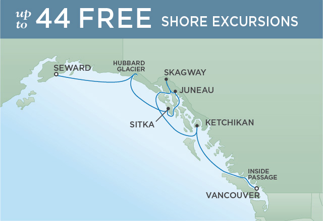 UNFORGETTABLE ALASKAN HOLIDAY | 7 NIGHTS | DEPARTS AUG 28, 2019 | Seven Seas Mariner