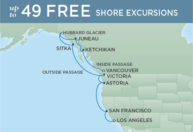Regent/Radisson Luxury Cruises WONDROUS WEST COAST | 12 NIGHTS | DEPARTS SEP 18, 2019 |  Mariner