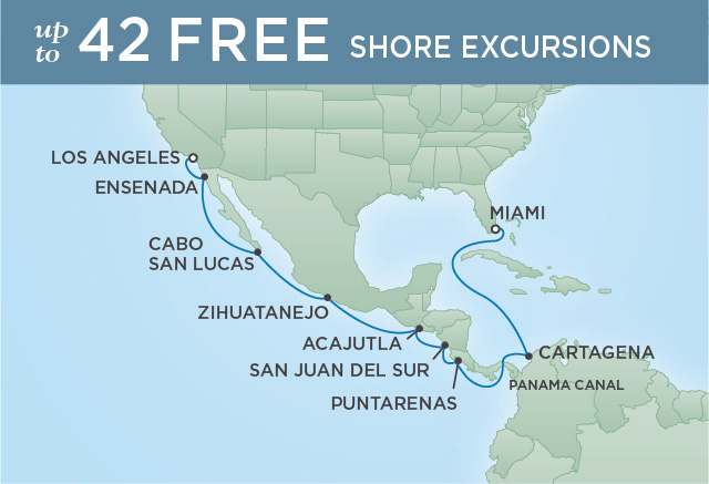 Regent/Radisson Luxury Cruises EXOTIC AMERICAS & CANAL CROSSING | 15 NIGHTS | DEPARTS SEP 30, 2019 |  Mariner