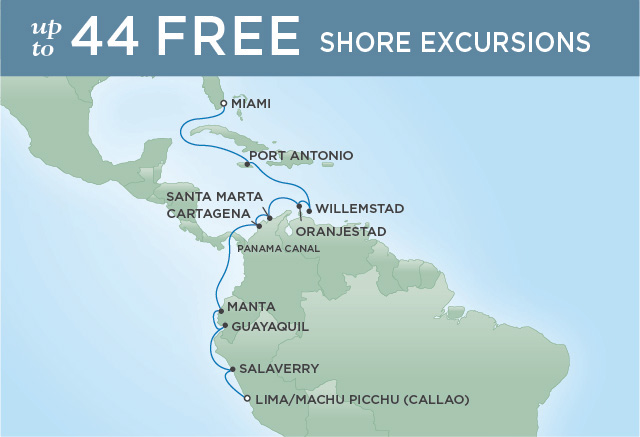 Regent/Radisson Luxury Cruises PARADISE TO MACHU PICCHU | 15 NIGHTS | DEPARTS NOV 01, 2019 |  Mariner