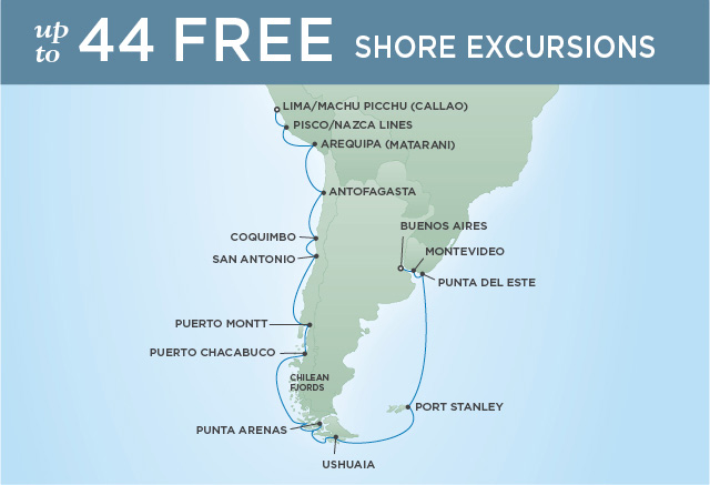 JOURNEY TO TIERRA DEL FUEGO | 21 NIGHTS | DEPARTS NOV 16, 2019 | Seven Seas Mariner
