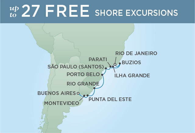 Regent/Radisson Luxury Cruises RETURN TO BRAZIL | 10 NIGHTS | DEPARTS DEC 07, 2019 |  Mariner