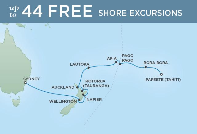 Regent/Radisson Luxury Cruises PINK HIBISCUS & BLUE MOUNTAINS | 18 NIGHTS | DEPARTS FEB 11, 2020 |  Mariner