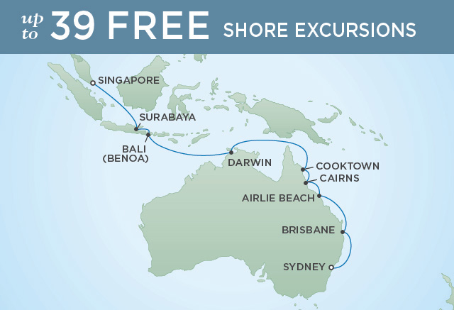 REGENT CRUISES AUSSIE DISCOVERY | 18 NIGHTS | DEPARTS MAR 01, 2020 | Seven Seas Mariner