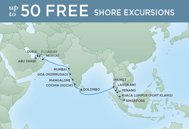 REGENT CRUISES ISLES OF SOUTHEAST ASIA | 20 NIGHTS | DEPARTS MAR 19, 2020 | Seven Seas Mariner