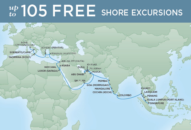 REGENT CRUISES ARABIAN NIGHTS | 41 NIGHTS | DEPARTS MAR 19, 2020 | Seven Seas Mariner
