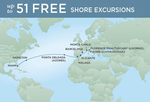 Regent/Radisson Luxury Cruises BARCELONA, BERMUDA & BEYOND | 18 NIGHTS | DEPARTS APR 29, 2020 |  Mariner