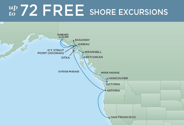 REGENT CRUISES PACIFIC NORTHWEST SUMMER | 13 NIGHTS | DEPARTS JUN 04, 2020 | Seven Seas Mariner