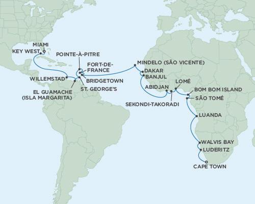 Singles Cruise - Balconies-Suites Regent Navigator 2019 - December 1 2019 January 5 2020 - 35 Days