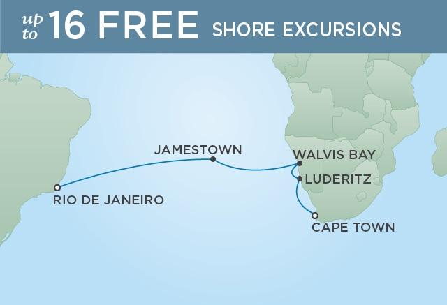 7 Seas Luxury Cruises SAFARI AND SAMBA - January 5-19 2021